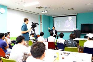 九州工業大学 飯塚キャンパスにて2コマ(日本語・英語)講演しました
